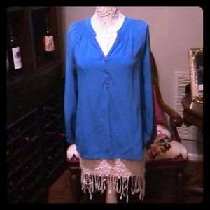 EUC Lilly Pulitzer Silk Elsa in Blue Size Large